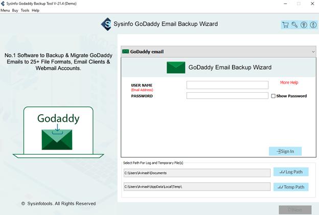 GoDaddy backup tool,GoDaddy email backup,GoDaddy mail backup,backup GoDaddy email,GoDaddy to Gmail migration,GoDaddy backup email account,export GoDaddy email to pst
