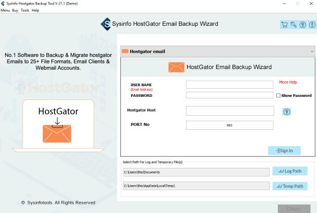 HostGator Backup tool, HostGator Backup Software, HostGator Email Backup, HostGator mail backup, HostGator server backup, Backup HostGator Emails, export HostGator databases, export emails from HostGator