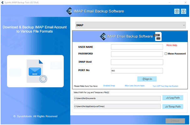 Windows 7 SysInfoTools IMAP Email Backup Software 20.0 full