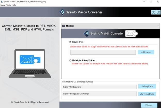 maildir converter software, maildir converter tool, convert maildir to pst, transfer maildir to pdf, maildir to eml,  maildir conversion, export Maildir to Outlook PST