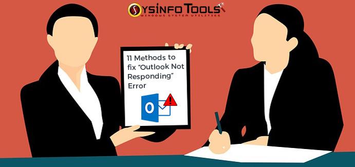 fix Outlook Not Responding error
