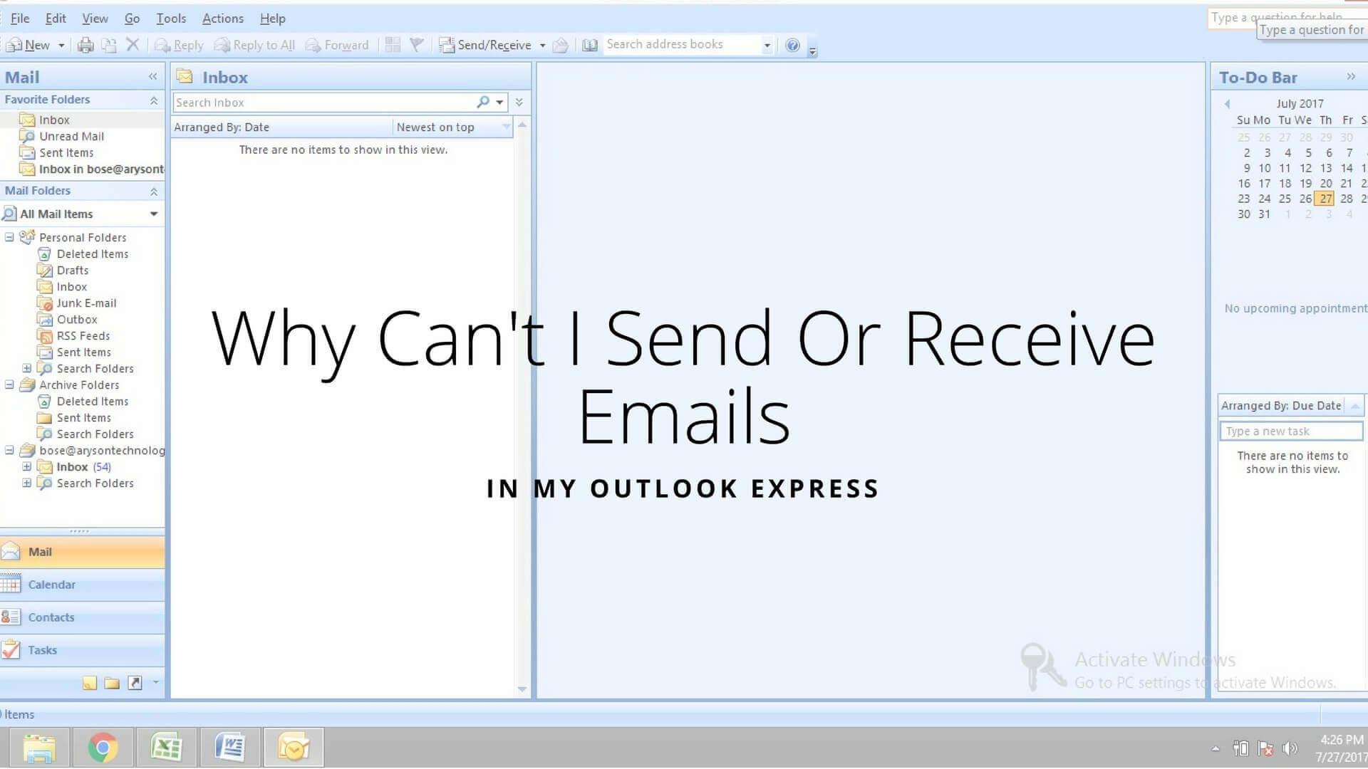 Outlook Express 2gb limit problem
