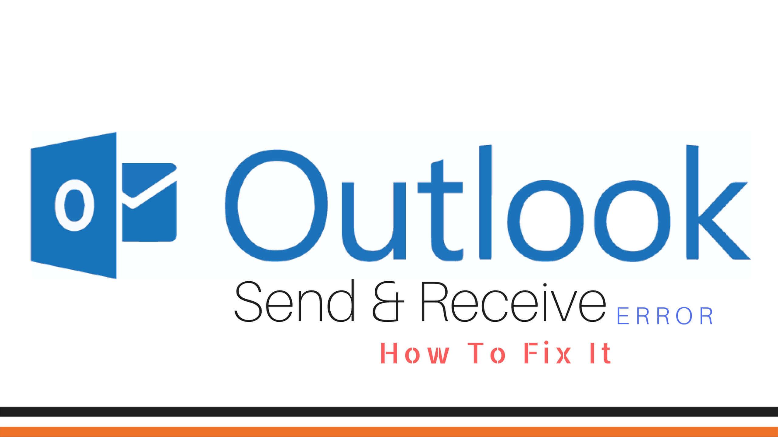 Outlook Send Receive Error