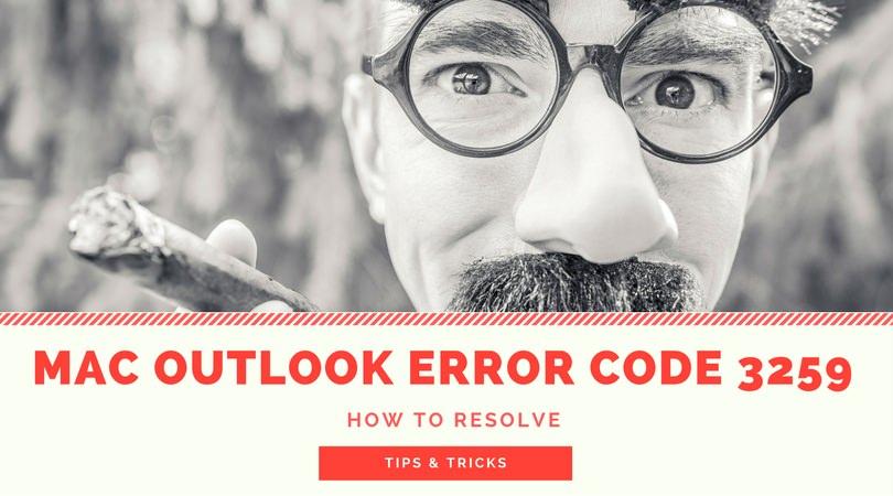 error 3259 MAC Outlook 2011
