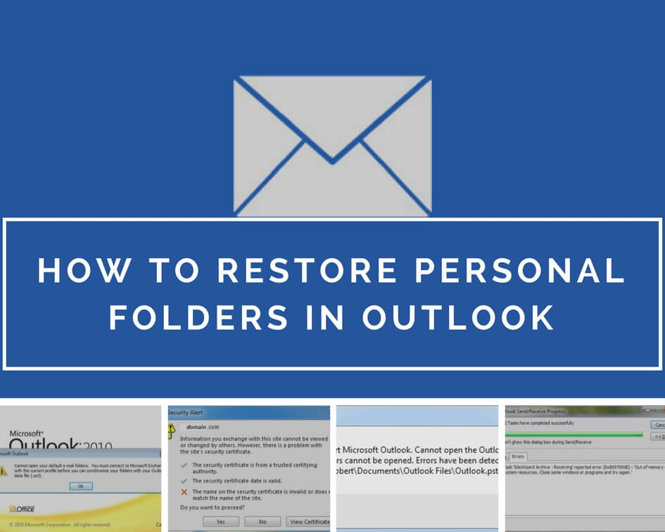 How To Restore Personal Folders In Outlook
