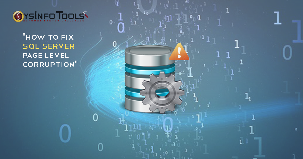 How to fix SQL Server Page Level Corruption
