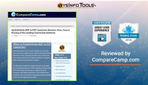 Camparecamp awarded SysInfoTools NSF to PST Converter Tool