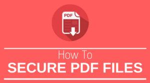 password protect a PDF
