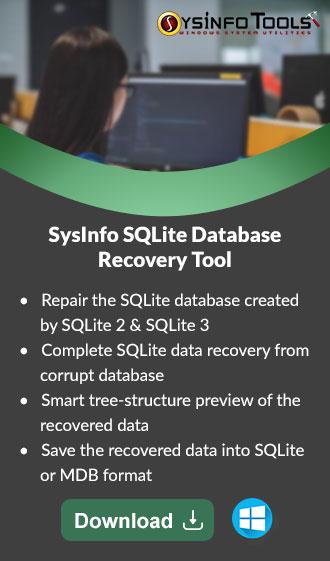 Fix Error SQLite Database Disk image is Malformed