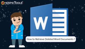 retrieve deleted word files