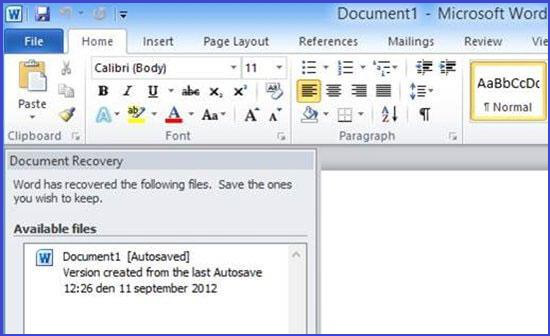 How to Retrieve Deleted Word Documents/Files for Free - A