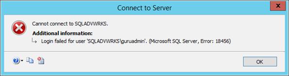 Login Failed SQL Server