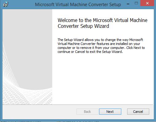 Microsoft Virtual Machine Converter MVMC