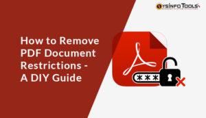 remove pdf document restrictions