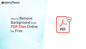 remove background from pdf