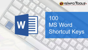 shortcut keys of ms word