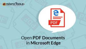 Open PDF Documents in Microsoft Edge