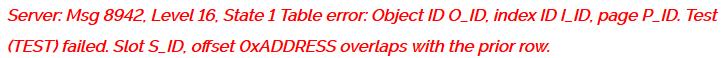 SQL Error 8942