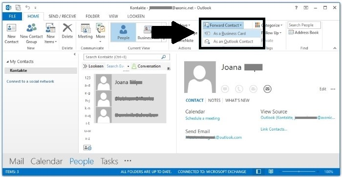 convert outlook contacts