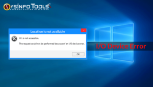 fix i/o device error windows 10