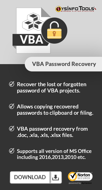 VBA Password recovery Sideimage