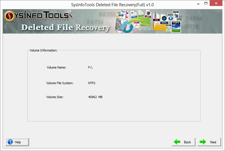 steps to run deleted file recovery tool