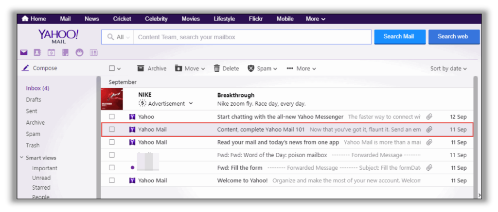 save yahoo email as pdf manually