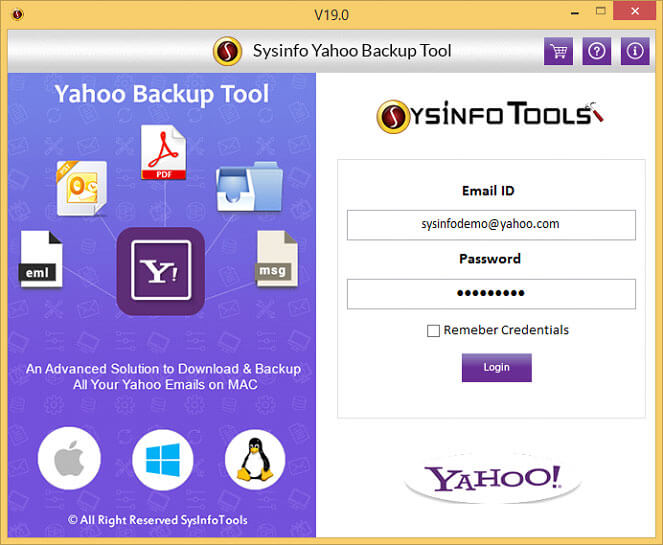 use yahoo backup tool to save yahoo email to pdf file