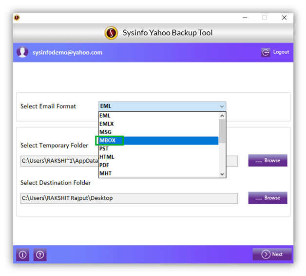 Desktop yahoo mode login My toolbar