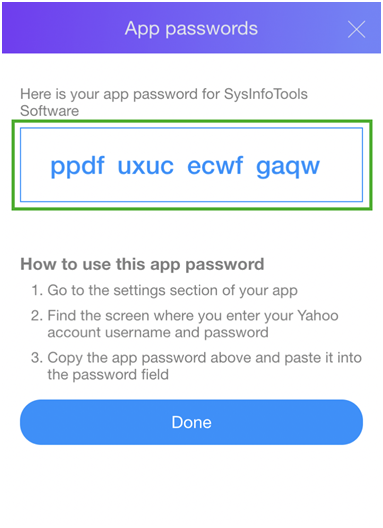 yahoo mail third party access