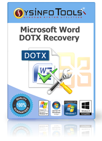 DOTx Repair Tool to Recover Corrupt MS Word DOTx Files
