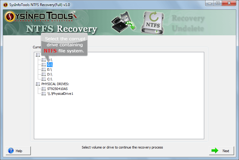 Click to view NTFS Recovery 1 screenshot