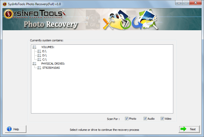 SysinfoTools Photo Recovery