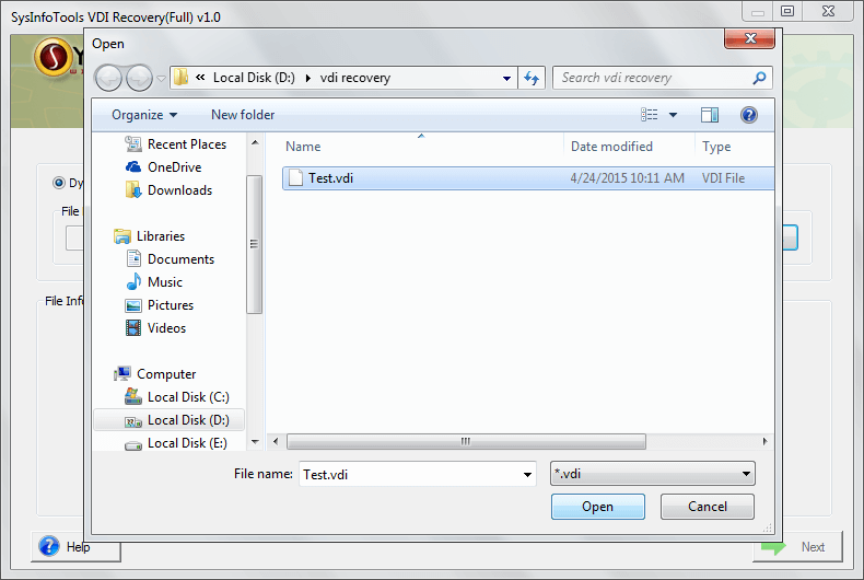 Click to view VDI Recovery 3.02 screenshot