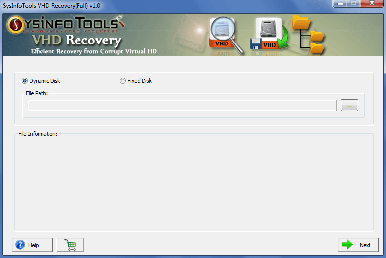VHD Recovery full screenshot