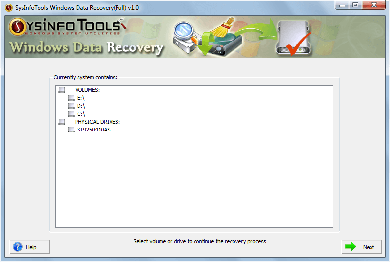Windows 7 SysInfo Windows Data Recovery Tool 1.0 full