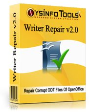 Click to view SysInfoTools ODT Files Repair 2.0 screenshot