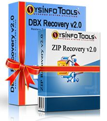 SysInfoTools DBX and ZIP Recovery Combo screen shot