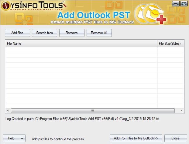 SysInfoTools Add Outlook PST tool