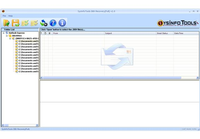 SysInfoTools Outlook Express Email Recovery screen shot