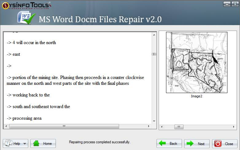 SysInfoTools MS Word Docm Recovery screenshot