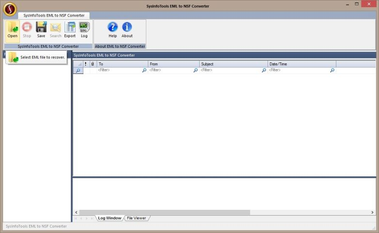 Click to view EML to NSF Converter 2.0 screenshot