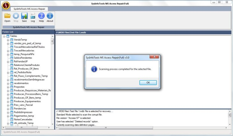 Free download Access Files Recovery from SysInfoTools