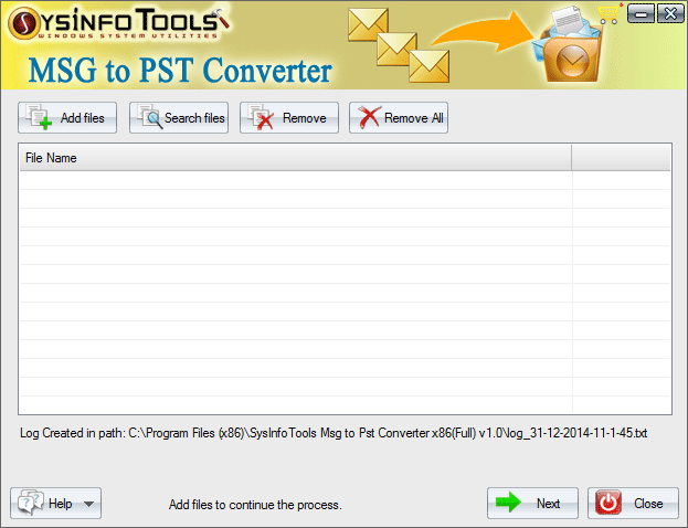 Click to view SysInfoTools MSG to PST Converter 1 screenshot
