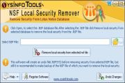 Launch SysInfoTools NSF Local Security Remover software the window shown below pops up.