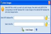 Select the Undo changes option from the software interface, Undo Changes dialog box will appear.