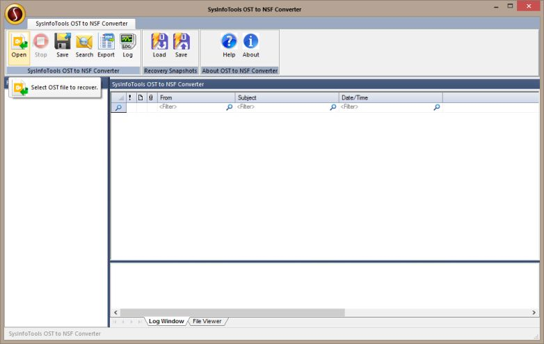SysInfoTools OST to NSF Converter screenshot