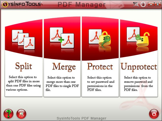 SysInfoTools PDF Manager screen shot