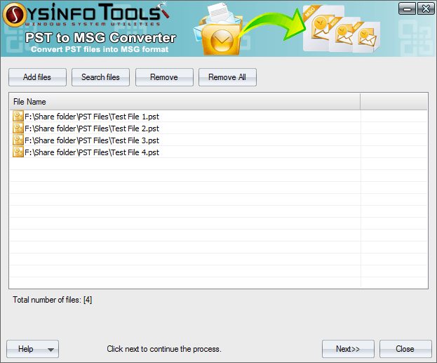 Click to view SysInfoTools PST to MSG Converter 1 screenshot