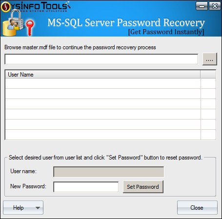sql server password recovery, sql sa password recovery, sql user password recovery, ms sql server password unlocker, recover sql